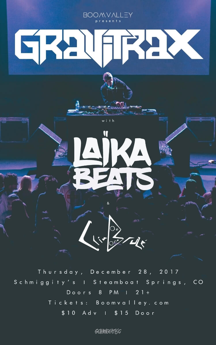 Gravitrax & Laika Beats Concert Poster